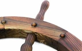 Drevené kormidlo Garth 80 cm - štýlová rustikálna dekorácia