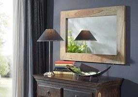 Bighome - GREY WOOD Zrkadlo 90x60 cm, palisander