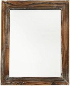 zrkadlo- drevený rám vintage hnedé 40X50X2CM