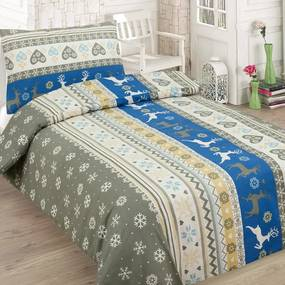 HOD Bavlnené obliečky CHRISTMAS BLUE 2 set 140x200cm