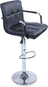 Aga Barová stolička s područkami Black
