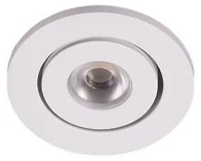 Trilum ARCH 224-1100834 Zápustné LED svietidlo Scout R micro rd. 3W, 700mA, 3000K,priem. 52x20mm,biele,s nap.zdroj