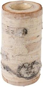 Prírodný svietnik z masívnej brezy J-Line, výška 20 cm