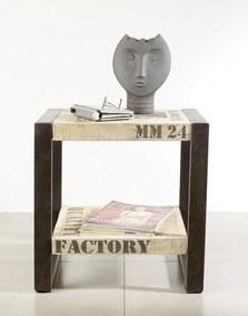 Masiv24 - FABRICA Príručný stolík 50x40 cm, mango