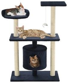 vidaXL Škrabadlo pre mačky so sisalovými stĺpikmi 95 cm, tmavomodré