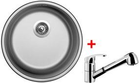 Set Sinks ROUND 450 V matný + batéria LEGENDA S