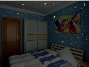 Sada 150 nástenných svietiacich detských samolepiek Ambiance Universe