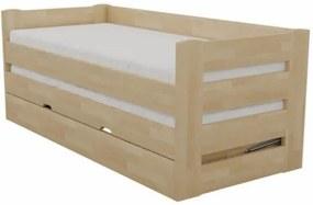 Posteľ VARIO Rozmer - postelí, roštov, nábytku: 90 x 200 cm, Farebné prevedenie: jelša, Povrchová úprava: lak