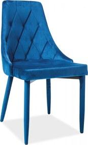 SIGNAL Trix Velvet jedálenská stolička granátová