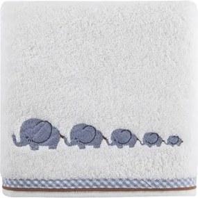 DomTextilu Biele uteráky pre bábätká so sloníkmi 6916-19082