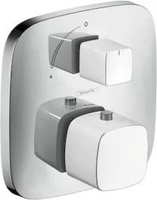 Sprchová batéria Hansgrohe Puravida bez podomietkového telesa biela / chróm 15775400