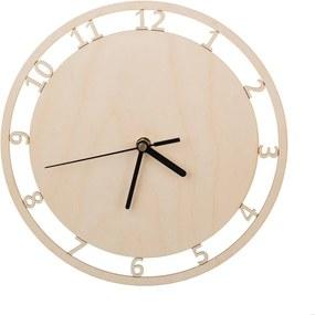 Drevobox Nástenné hodiny prírodné III