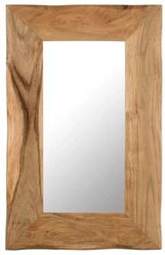 vidaXL Kozmetické zrkadlo z akáciového dreva 50x80 cm