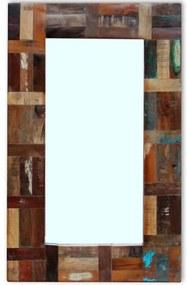 vidaXL Zrkadlo z recyklovaného dreva , 80 x 50 cm