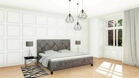 Slumberland OXFORD - čalúnená posteľ s vysokým čelom 140 x 200 cm