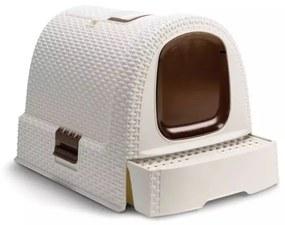 Curver Toaleta s poklopom pre mačky  400460, 51x38.5x39.5 cm, biela