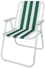ISO Plážové skladacie kreslo, zelené, 3409
