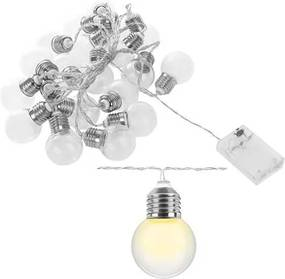 ISO LED svetelný reťaz, žiarovky teplá biela 20ks, 8623