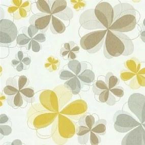 Vliesové tapety, kvety žlté, Modern Line 1329430, P+S International, rozmer 10,05 m x 0,53 m