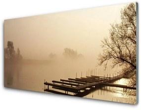 Nástenný panel Most voda hmla krajina 100x50cm