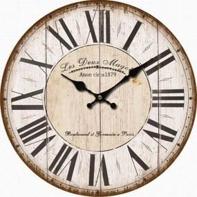 hodinky nástenné s rímskymi číslami drevené 34×34×1cm