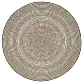 Béžový vonkajší koberec Universal Silvana Rutto, ⌀ 120 cm