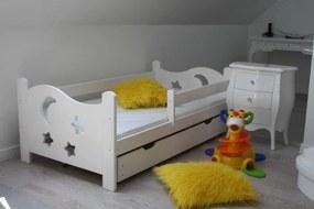 Detská posteľ SEVERYN, biela, 70x160cm