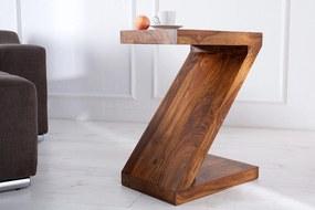 Drevený stolík Sheesham - 45 cm