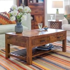 Konferenčný stolík Rami 110x45x60 indický masív palisander/sheesham Natural
