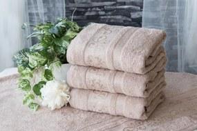 XPOSE ® Bambusový ručník CATANIA - latté 50x90 cm