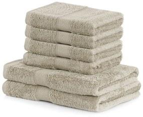 Set 2 béžových osušiek a 4 uterákov DecoKing Bamby