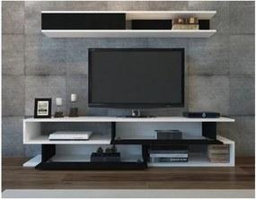 Sconto TV zostava SIMS biela/čierna