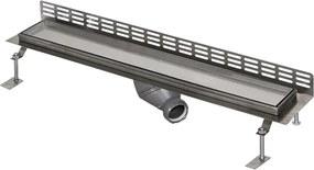 KúPEľňOVé žLIABKY Nerezový kúpeľňový žliabok pre vloženie do dlažby ku stene, dĺžka 1150 mm