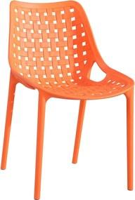 >> TERY plastová stolička, oranžová