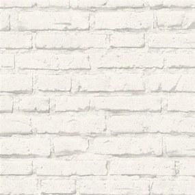 Vliesové tapety na stenu Boys & Girls 34399-2, tehla biela, rozmer 10,05 m x 0,53 m, Grandeco