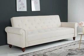 Dizajnová sedačka Scarlet 225 cm rozkladacia / krémová