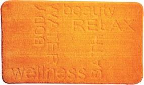 GRUND Kúpeľňová predložka FEELING oranžová Rozmer: 60x100 cm