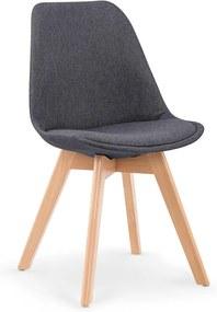 DREVONA09 Jedálenská stolička tmavo šedá K303