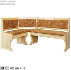 8c77ff4577 Rohová lavica z masívneho dreva NR 107