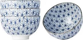 MIJ Set misiek Starburst Design modrá 4 ks