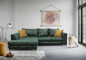 Kvalitná rohová sedačka Gravel, zelená Roh: Orientace rohu Pravý roh