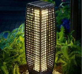 InternetovaZahrada - Solárna ratanová lampa