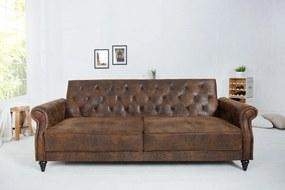 Dizajnová sedačka Maison 220 cm rozkladacia / antická hnedá