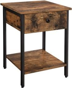 Rongomic Noční stolek VASAGLE Jeid hnědý
