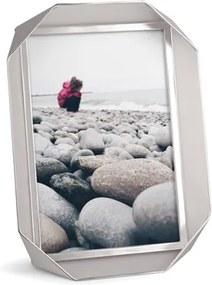 Fotorámik FOTOBEND 13x18 cm kov niklový, Umbra, kov, 21,5 x 16,5 x 2,5 cm, 13x18 cm, niklová