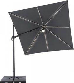 RAVENNA 2,5 x 2,5 m - záhradný naklápací bočný slnečník s LED osvetlením - Doppler