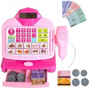 ISO Detská pokladňa so skenerom, ružová, 9537