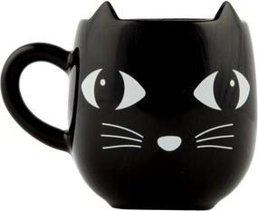 Sass & Belle Keramický hrnček mačička - Black Cat