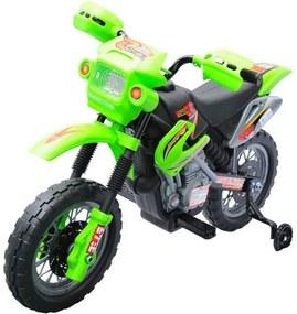 Dětská elektrická motorka Enduro, zelená