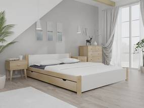 Posteľ IKAROS 120 x 200 cm, borovica Rošt: S latkovým roštom, Matrac: Bez matrace
